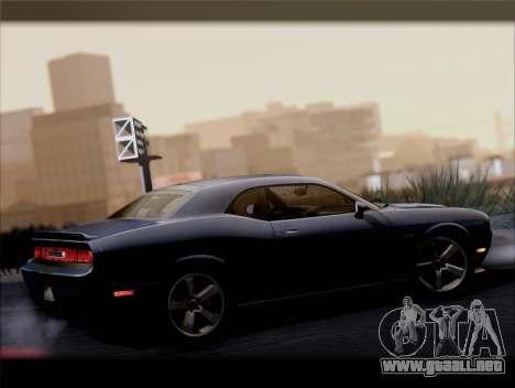Dodge Challenger SRT8 2012 HEMI para vista inferior GTA San Andreas