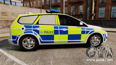 Ford Focus Estate 2009 Police England [ELS] para GTA 4 left