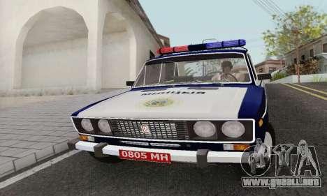 Policía 2106 VAZ para GTA San Andreas left