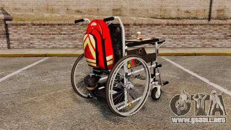 Funny Wheelchair para GTA 4 Vista posterior izquierda