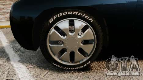 Ford Forty Nine Concept 2001 Police [ELS] para GTA 4 vista hacia atrás