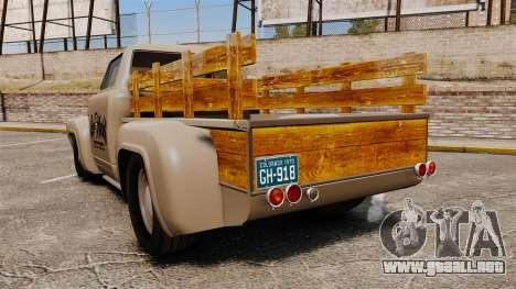 Hot Rod Truck Gas Monkey v2.0 para GTA 4 Vista posterior izquierda