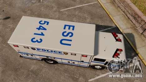 Hazmat Truck LCPD [ELS] para GTA 4 visión correcta