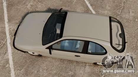 Daewoo Lanos S PL 1997 para GTA 4 visión correcta