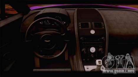 Aston Martin V12 Zagato 2012 [HQLM] para vista inferior GTA San Andreas