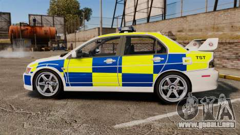 Mitsubishi Lancer Evolution IX Police [ELS] para GTA 4 left