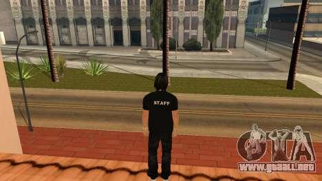 Piel de alta calidad personal para GTA San Andreas sucesivamente de pantalla