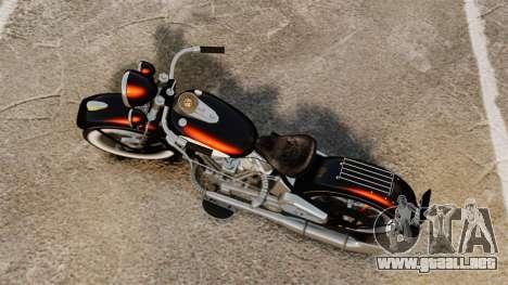 Harley-Davidson Knucklehead 1947 para GTA 4 Vista posterior izquierda