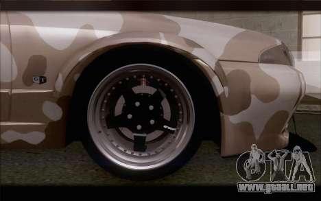 Nissan Skyline GTS Drift Spec para GTA San Andreas vista posterior izquierda