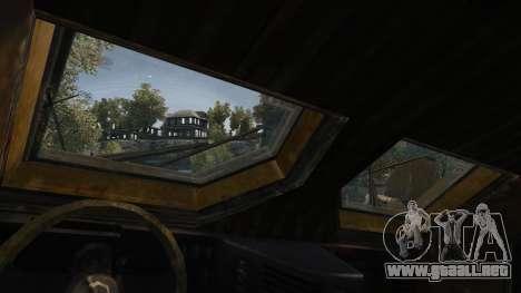 Oshkosh M-ATV para GTA 4 vista desde abajo