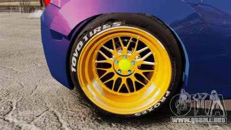 Ferrari 458 Italia Liberty Walk para GTA 4 vista hacia atrás