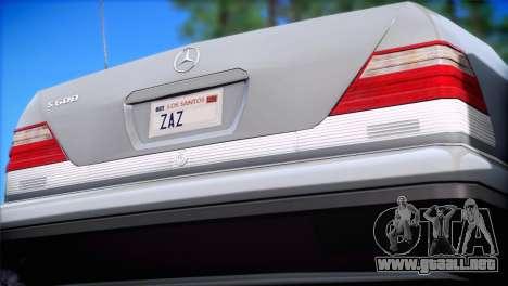 Mercedes-Benz S600 V12 V1.2 para GTA San Andreas left