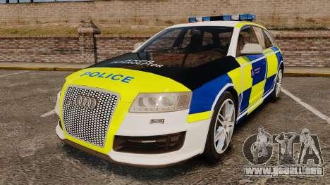 Audi RS6 Avant Metropolitan Police [ELS] para GTA 4