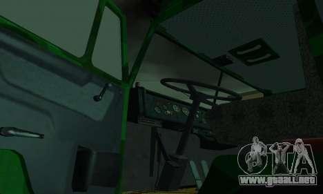 Ejército KAMAZ 4310 para visión interna GTA San Andreas