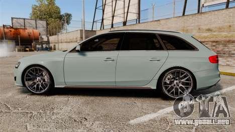 Audi RS4 Avant para GTA 4 left