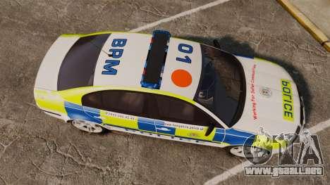 Skoda Superb 2006 Police [ELS] Whelen Edge para GTA 4 visión correcta
