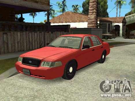 Ford Crown Victoria Unmarked Police para GTA San Andreas