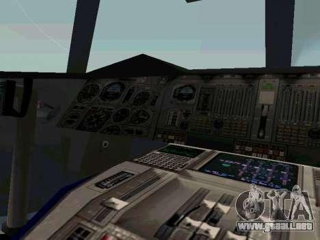 Boeing-747-400 Airforce one para GTA San Andreas vista hacia atrás