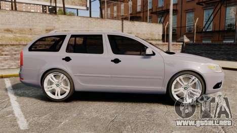 Skoda Octavia RS Unmarked Police [ELS] para GTA 4 left