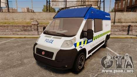 Fiat Ducato Manchester Police [ELS] para GTA 4