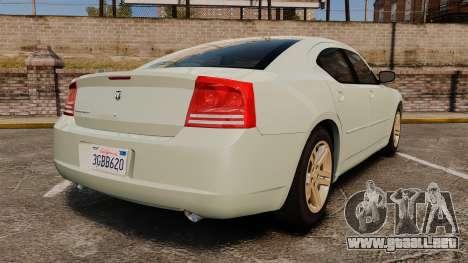 Dodge Charger RT Hemi 2007 para GTA 4 Vista posterior izquierda