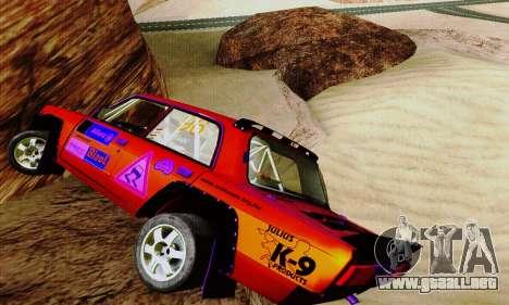 Lada 2105 VFTS para visión interna GTA San Andreas