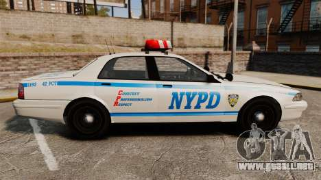 GTA V Police Vapid Cruiser NYPD para GTA 4 left