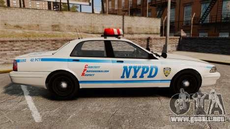 GTA V Police Vapid Cruiser NYPD para GTA 4 left