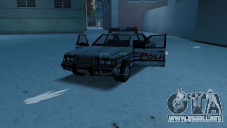 BETA Police Car para GTA Vice City vista interior