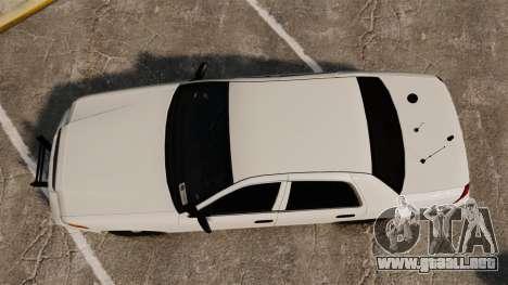 Ford Crown Victoria 1999 Unmarked Police para GTA 4 visión correcta