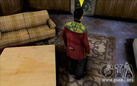 Tipo asiático para GTA San Andreas segunda pantalla