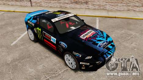 Ford Mustang GT 2013 Widebody NFS Edition para GTA 4 vista superior