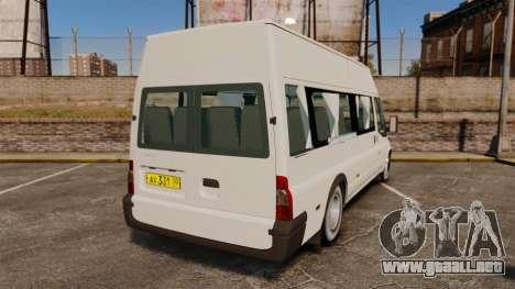 Ford Transit Passenger para GTA 4 Vista posterior izquierda