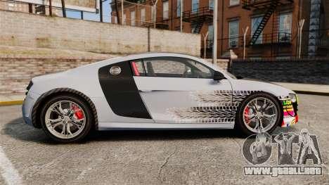 Audi R8 GT Coupe 2011 Drift para GTA 4 left