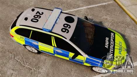BMW 550d Touring Metropolitan Police [ELS] para GTA 4 visión correcta