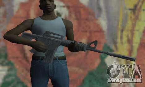 M4A1 de Saints Row 2 para GTA San Andreas tercera pantalla
