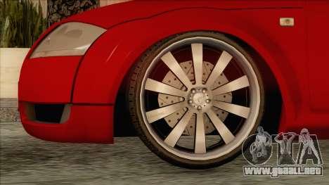 Audi TT 1.8T para GTA San Andreas vista posterior izquierda