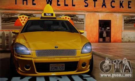 Declasse Premier Taxi para GTA San Andreas vista hacia atrás