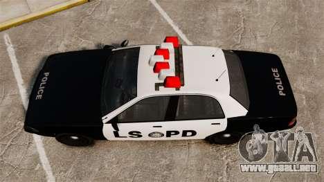 GTA V Vapid Police Cruiser LSPD para GTA 4 visión correcta