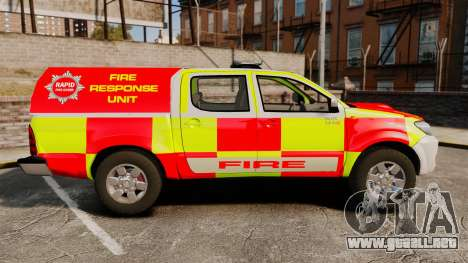 Toyota Hilux British Rapid Fire Cover [ELS] para GTA 4 left