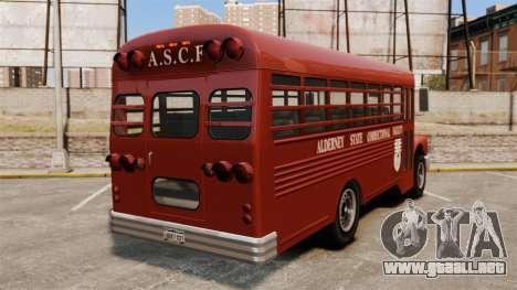 GTA IV TLAD Prison Bus para GTA 4 Vista posterior izquierda