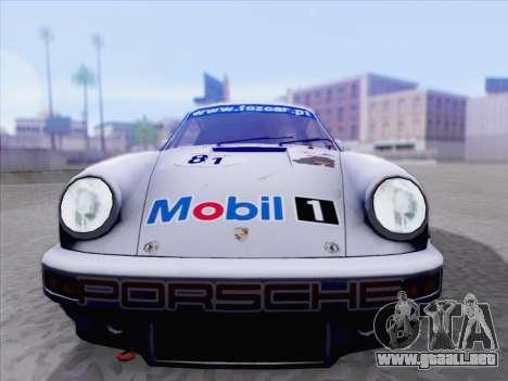 Porsche 911 RSR 3.3 skinpack 1 para GTA San Andreas vista posterior izquierda
