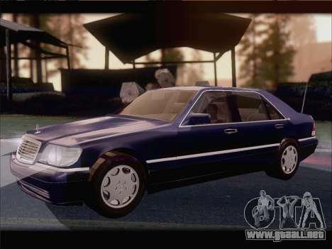 Mercedes-Benz S600 V12 V1.2 para GTA San Andreas vista hacia atrás