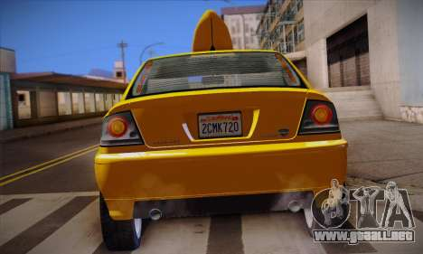 Declasse Premier Taxi para la vista superior GTA San Andreas