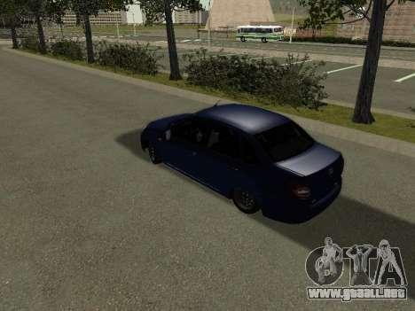 VAZ 2190 para GTA San Andreas vista posterior izquierda