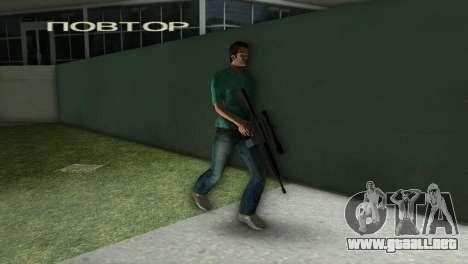 M-16 con un arma de francotirador para GTA Vice City sucesivamente de pantalla