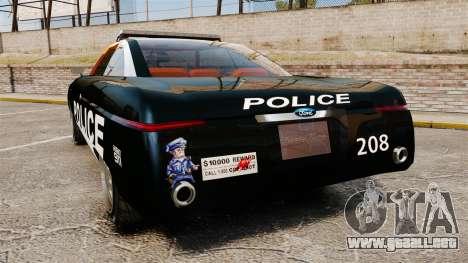 Ford Forty Nine Concept 2001 Police [ELS] para GTA 4 Vista posterior izquierda