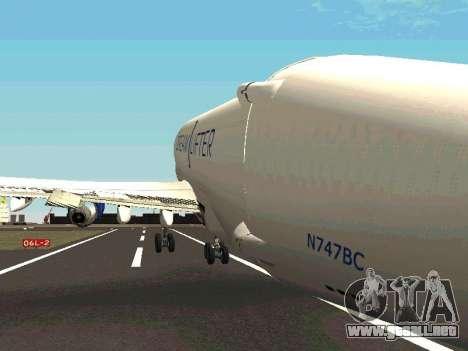 Boeing-747 Dream Lifter para vista inferior GTA San Andreas