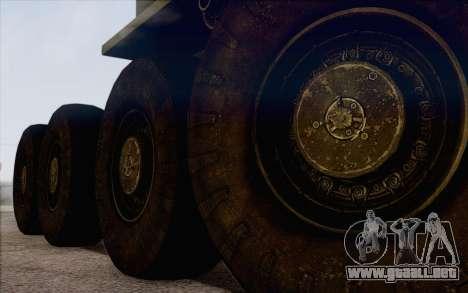 535 MAZ militar para GTA San Andreas vista posterior izquierda
