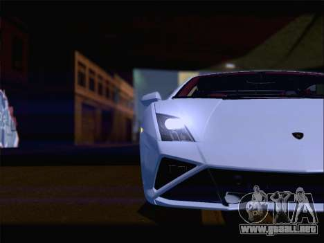Lamborghini Gallardo 2013 para GTA San Andreas interior